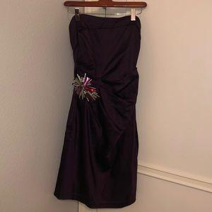 Plum cocktail dress size S Alexia Admor